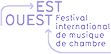 Logo du partenaire Festival Est-Ouest en bleu